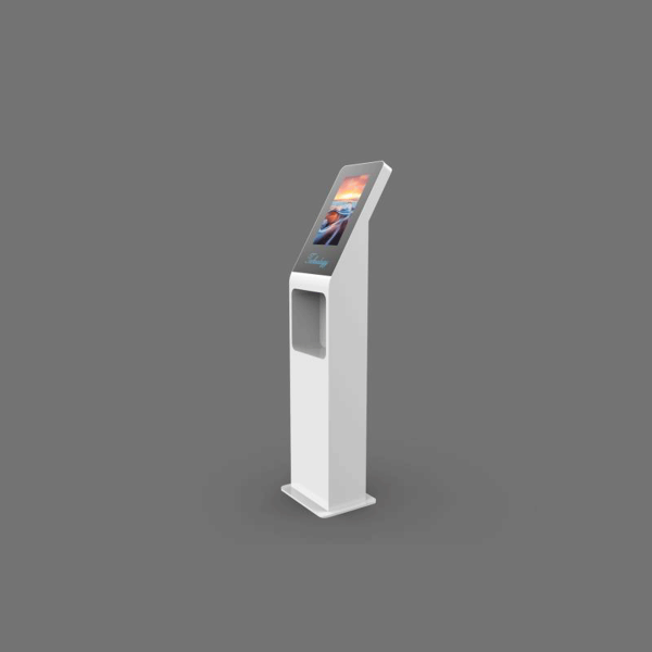 Interactive Kiosk with Built-in Hand Sanitizer Dispenser